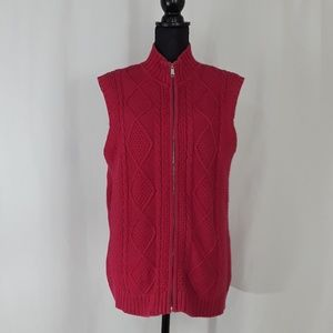 Additions by Chicos Pink Knit Vest Size 2